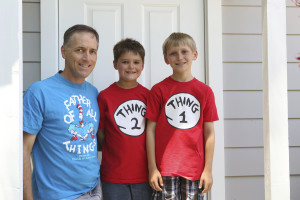 photo of dave klenske and his two children
